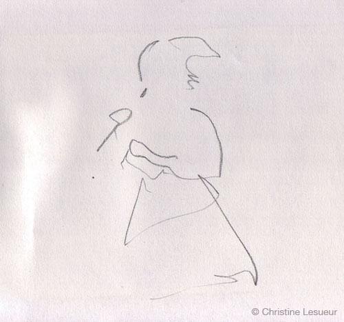 M Nahadr - Sketch by Christine Lesueur