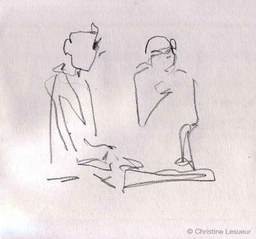 Live @ Alhambra - Sketch by Christine Lesueur