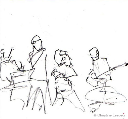 Live @ New-Morning - Sketch by Christine Lesueur