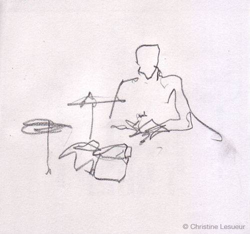 Lawrence Clais - Sketch by Christine Lesueur